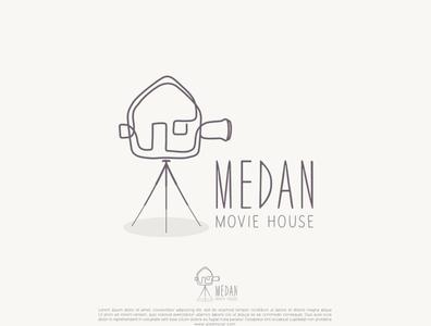 MEDAN Movie House   logo design by Alex Mora