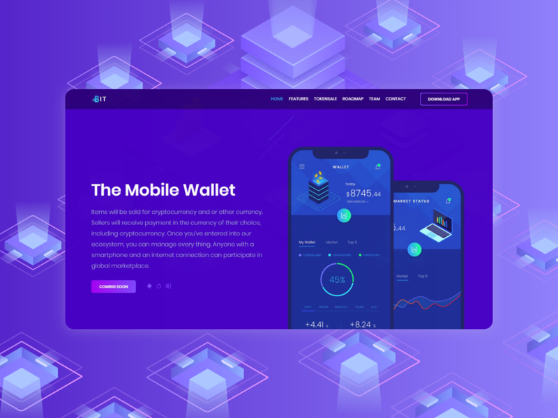 Landing page for a mobile app website flat design web ui landing page illustration landing page concept landing page design landing design landing page