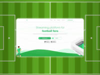 Streaming platform landing page