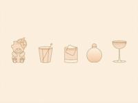 happy hour icons