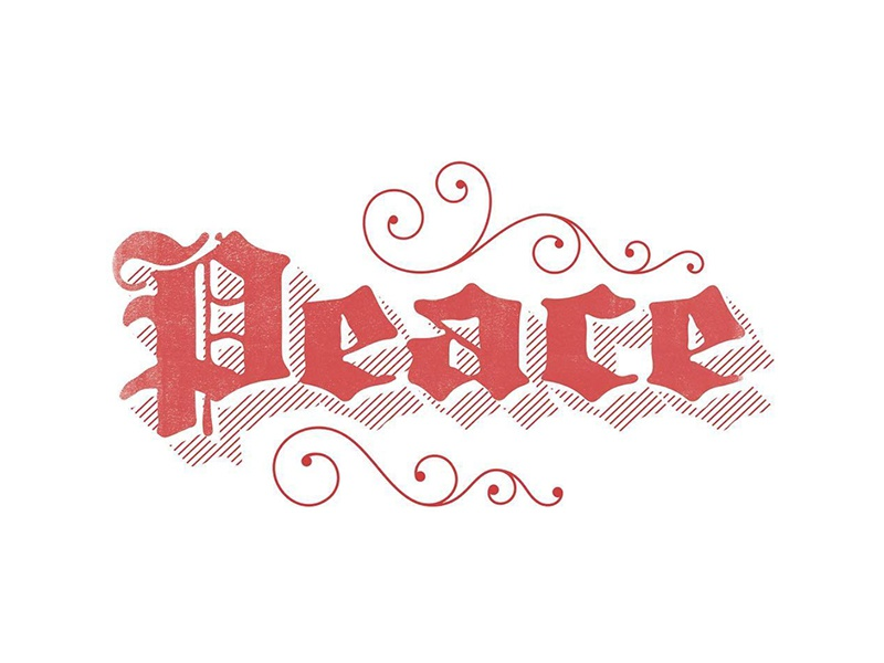 peace ✌️ type type design christmas black letter lettering holiday peace