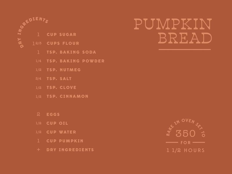 🎃🍞 layout food autumn fall pumpkin recipe type challenge type lettering