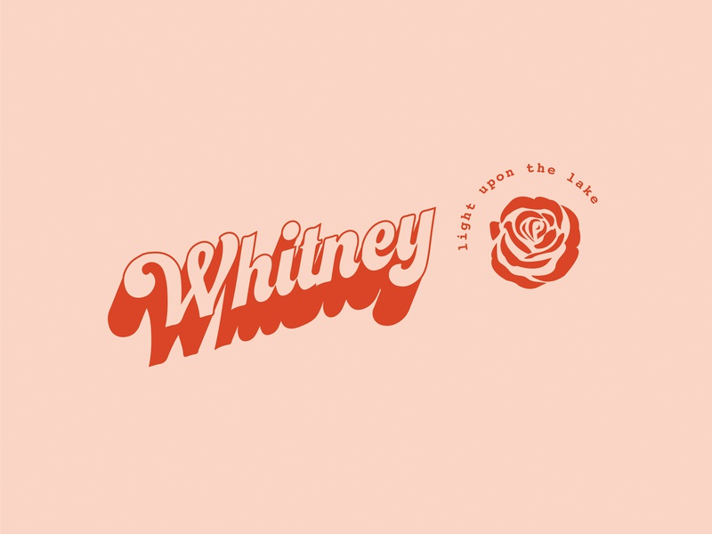 whitney poster gig band concert retro lettering chicago