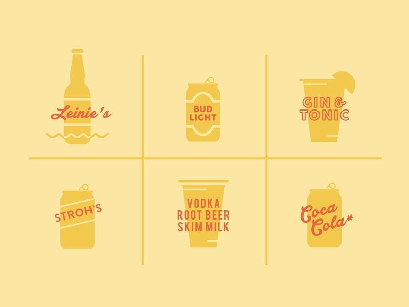 🍻 summer yellow golden icon illustration beverage drink beer