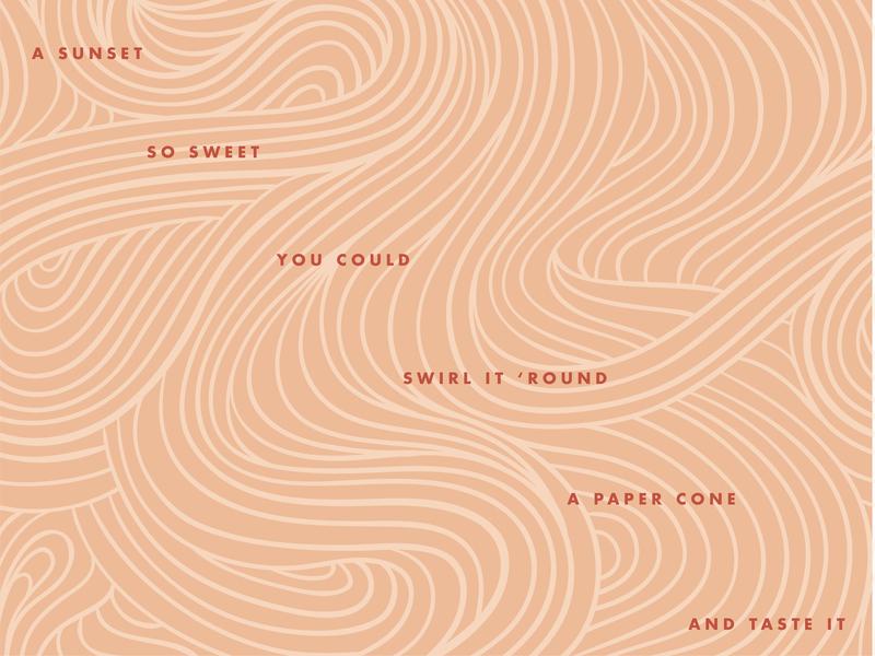 a sunset so sweet 🍦 pattern a day peach swirl layout pattern