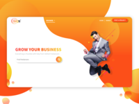 Landing page for a digital platform
