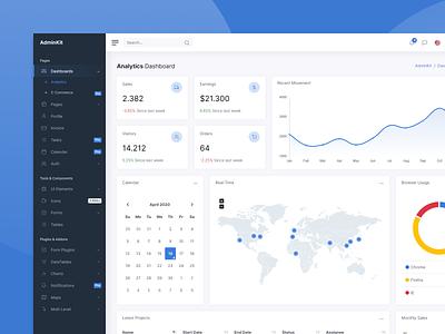Analytics Dashboard - AdminKit template theme analytics ui kit web ui kit dashboard admin bootstrap