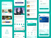 Hotel Booking App user ios clean login booking room rounded green maps receipt payment hotel booking hotel app hotel uiux uxdesign uidesign ui  ux ux ui