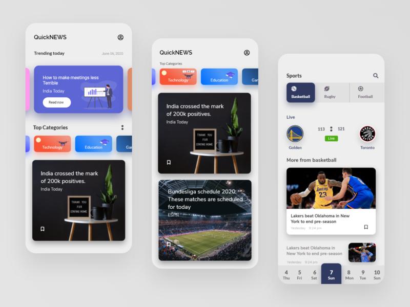 Short News Service news app newsfeed news fullstack app design educational developer