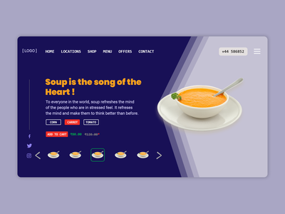 Web Page - Soup Shop