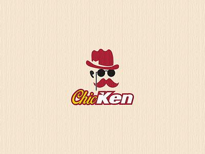 ChicKEN logo vector vali21 caracter design concept typography fastfood restaurant ken chic chicken