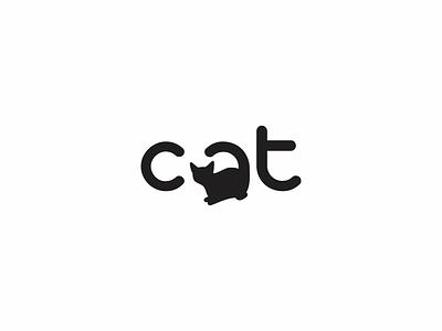 Cat Logo cat logo typography vector