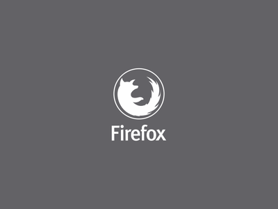 Firefox Logo firefox mozilla logo vector minimalist