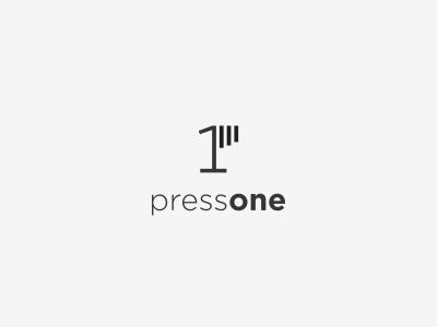 PressOne logo one hand press
