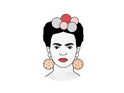 Frida Kahlo 🌺 portrait character inspire painter minimalistic artist friday frida kahlo art design flat digital art drawing illustration digital illustration