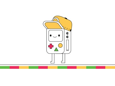 Character inspired by BMO from Adventure time art vector flat drawing digital art digital illustration cute tech robot illustration digital illustration characterdesign adventure time bmo
