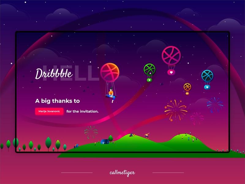 Hello Dribbblers! adobe xd