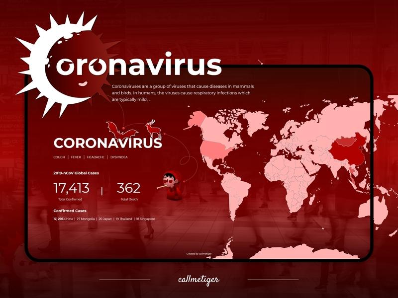 Coronavirus tracking site web design adobe xd