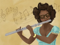 Lady with Flute