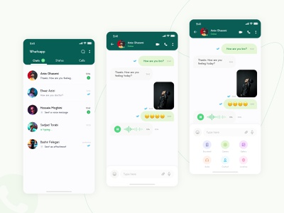 WhatsApp Concept dribbble chatroom facebook persian iran uiux network social network socialmedia instagram telegram whats app whatsapp mobile adobe xd ux ui design chat app chat