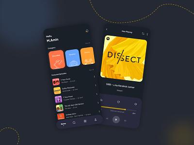 Podcast Concept adobe xd  photoshop  ui ux dark theme dark ui dark app dark musicplayer music app podcasting podcast music adobe photoshop adobe xd ux ui design