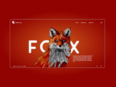 fox landing page landingpage fox ui illustration design artwork