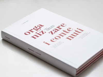 Organizzare i contenuti print paper editoral typogaphy book design