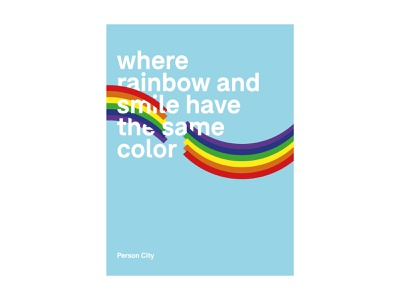 Person City / MADRID GRÁFICA 18 design print human rights social integration rainbow paper typogaphy poster