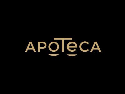 Apoteca shop logo typogaphy typo logo brand branding shop logodesign logotype logo