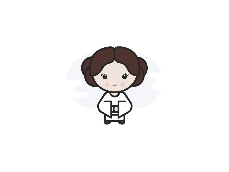 Princess Leia character avatar movie android star wars illustration ios