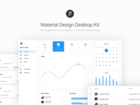 Material Design Dashboard UI Kit for Figma
