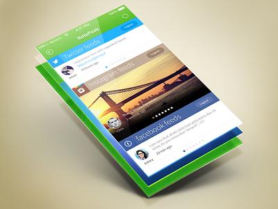 Notepeek ios iphone app design. notepeek ui notepeek app