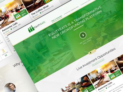 Equity Eats Mockup crowdfunding food restaurant equityeats