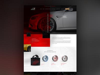 AutoWheel Website automobile design auto ui dark ui wheel design wheels website automobile auto website