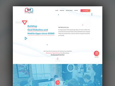 Pure Agency ui ux design freelancing modern trend floating elements design clean design cool colors agency website ui design