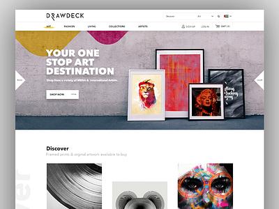 Drawdeck Website Design modern web ui modern design ui freelancer fashion ui art ui living fashion art drawdeck ux ui drawdeck web design drawdeck