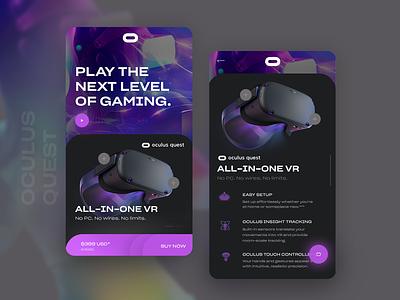 Oculus Quest Headset UI gfxmosh mohsin.design visualdesigner ui designer freelance app designer dark ui productui beautifului product app ui product design app appdesigner app designer uxuidesigner freelance designer app design darkuidesign oculusui oculus quest oculus rift