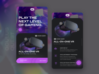 Oculus Quest Headset UI