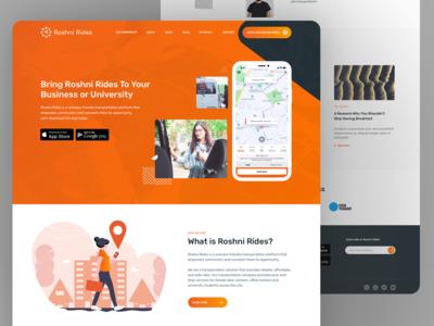 Roshni Rides Website UX UI