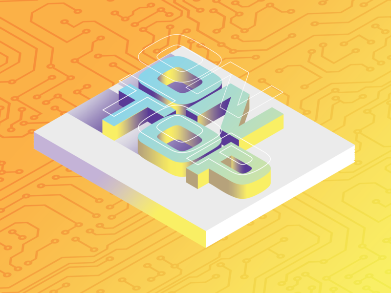 On Top Cover Art isometric design illustration