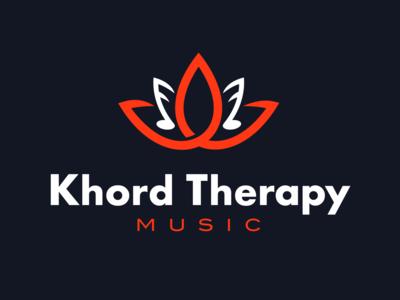 Khord Therapy Logo Design identity music brand mark logo design