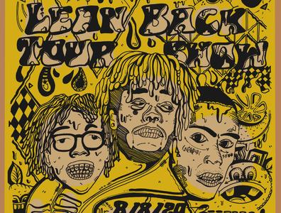 Lyrical Lemonade Tour Poster poster art cole bennett lyrical lemonade lyricallemonade illustrator poster