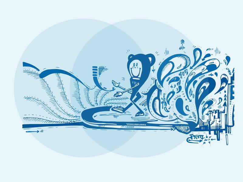 Keep on Keepin on hand drawn branding graphic  design graphic art street art skate vector surf art surf illustration design