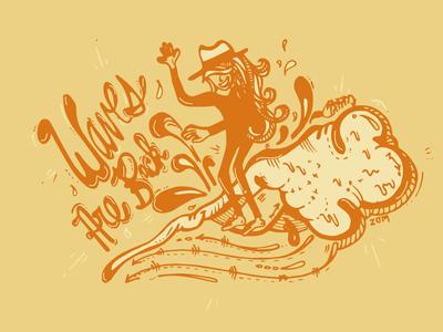 The waves are back! internationalwomensday skate or die skate shop 90s skate deck logo skate board swag branding hand drawn skate graphic  design graphic art street art vector surf surf art illustration design