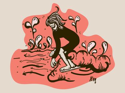 Goin nice and easy pride month internationalwomensday skate or die skate shop 90s skate deck logo skate board swag branding hand drawn skate graphic  design graphic art street art vector surf surf art illustration design
