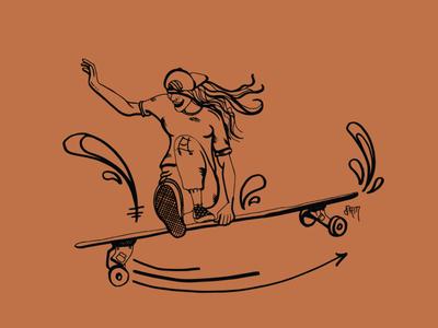 Quick kick out! hand drawn skate graphic  design graphic art street art vector surf surf art illustration design