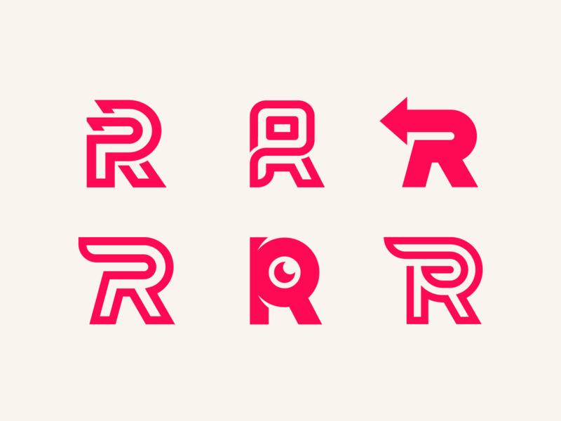 R Logo Collection lettermarklogo logo design logotype logos letters sketch symbol lettering lettermark letter minimal vector typography logodesign illustration icon design logo branding brand
