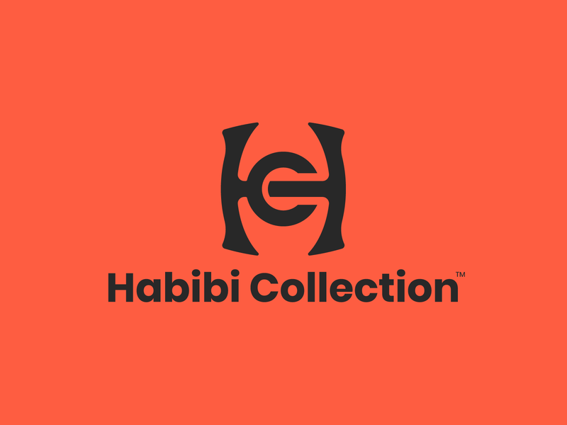 HC - Habibi Collection hc clean logofont logofield logofolio lookbook logo design logos lettering logotype minimal vector typography logodesign icon illustration design logo branding brand
