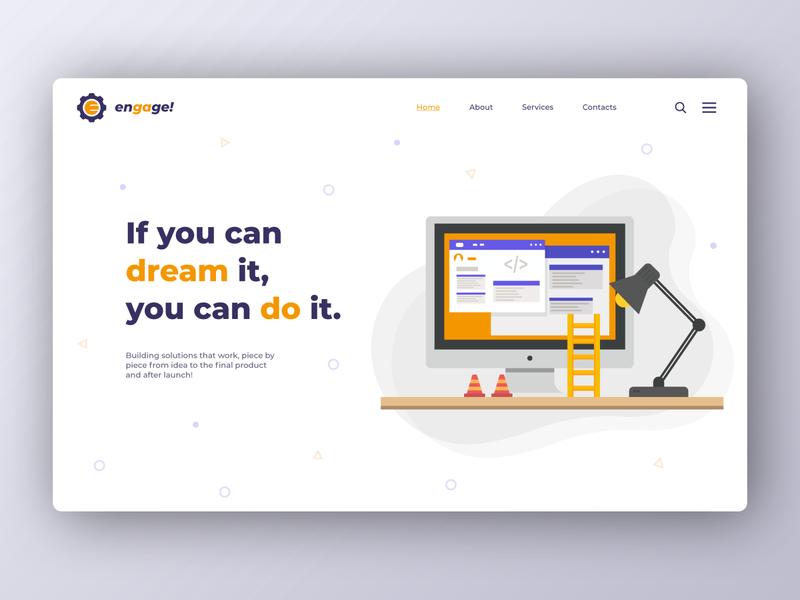 Engage website engage website web icon ui ux typography vector logo illustration design branding brand