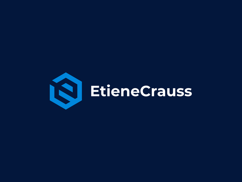 Etiene Crauss minimal symbol building flat logodesign typography icon design logo branding brand
